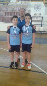 Καράμπελας & Χατζίκος η συγκομιδή ήταν 3 Αργυρά Μετάλλια στο Πανελλήνιο Πρωτάθλημα U13 στην Πρωτεύουσα του Ν.Ηλείας.