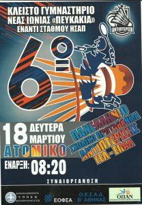 Αφίσα Πανελληνίου Σχολικού Πρωταθλήματος Αντιπτέρισης ΓΕΛ ΕΠΑΛ 2019.